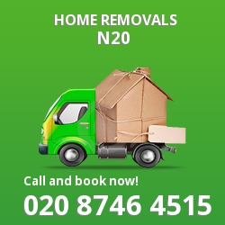 Oakleigh Park moving houses N20