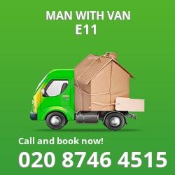 E11 man with van