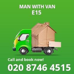 E15 man with van