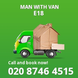 E18 man with van
