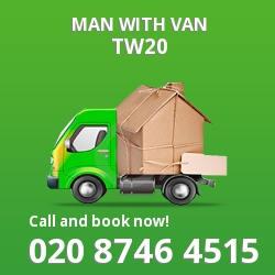 TW20 man with van