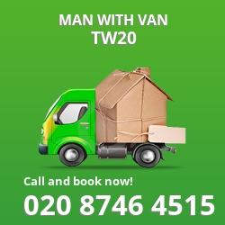 TW20 man with van
