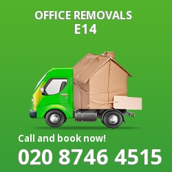 Canary Wharf office removal