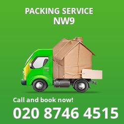 full packing service Welsh Harp